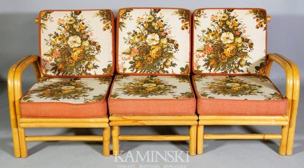 6056: Set Of 1940s Bamboo Furniture