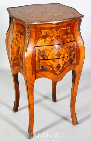 8004: 19th/20th C. Marquetry French Stand