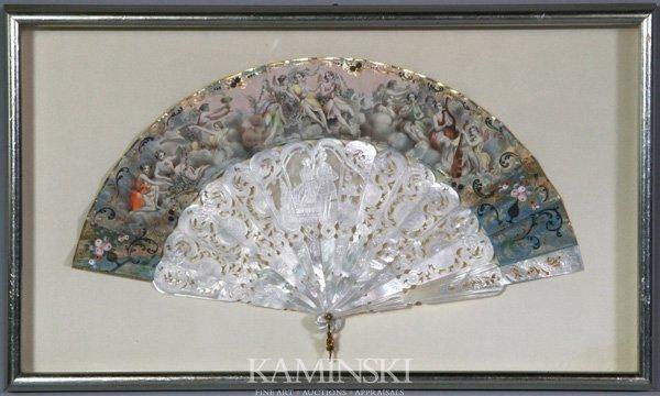 8005: 18th/19th C. European Painted Fan