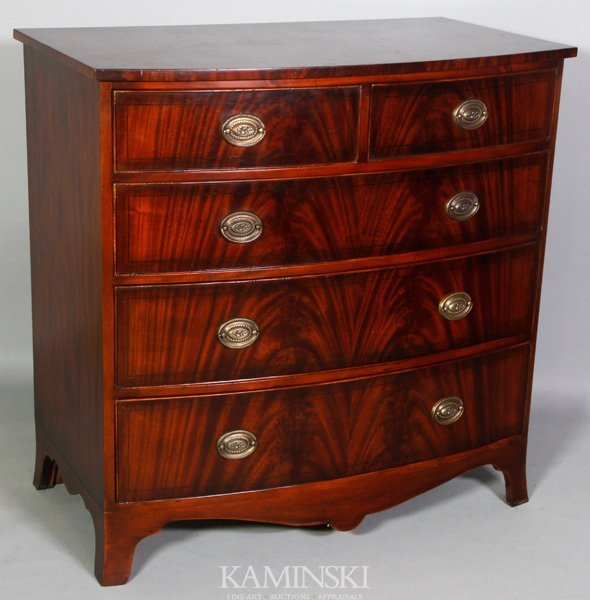 8007: Chippendale Bowfront Chest
