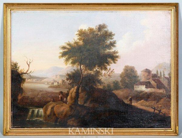 8008: 19th C. Continental Landscape, O/C