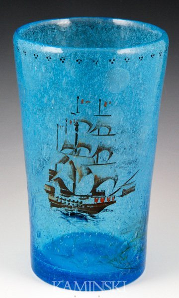 8012: 20th C. Pairpoint Tavern Glass Vase