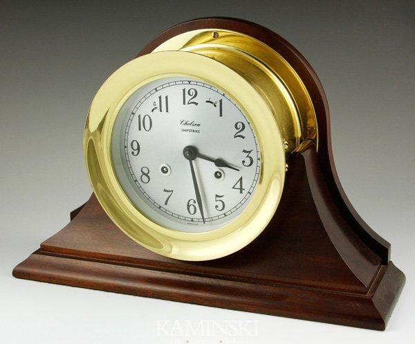 8014: Chelsea Brass Shipstrike Clock