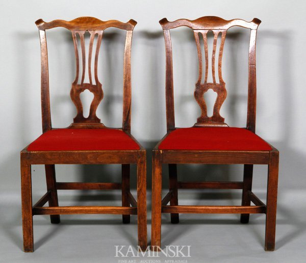 8017: Pair of 18th C. English Side Chairs