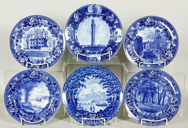 8023: 6 English Historic Plates