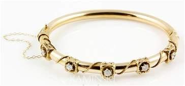 8064 Antique Diamond Bangle Bracelet