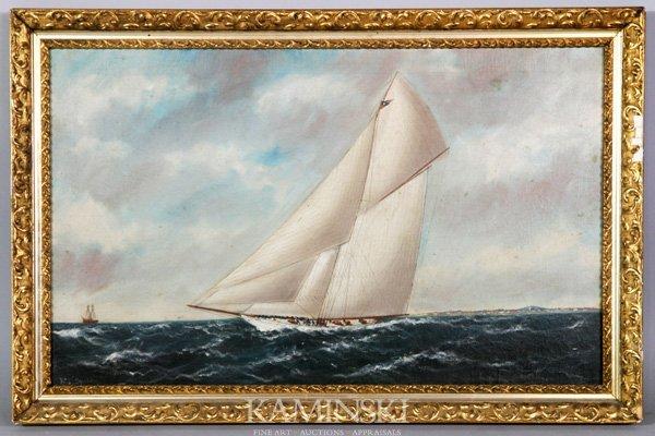 8103: Stubbs, Sloop Under Sail, O/C
