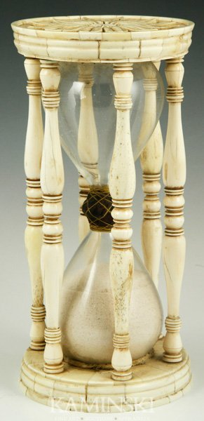 8315: Carved Ivory Hourglass