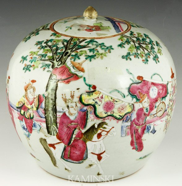 2001: 19th C. Famille Rose Jar