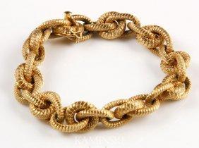 9002: 18K Gold Chain Bracelet