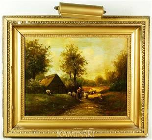 Van der Weele, Lady with Sheep, O/P