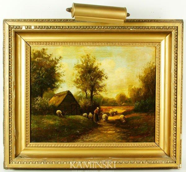 9004: Van der Weele, Lady with Sheep, O/P