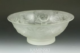 9007: Frosted Lily Pad Bowl