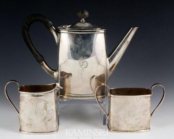 9013: 3 Piece Erickson Sterling Tea Set