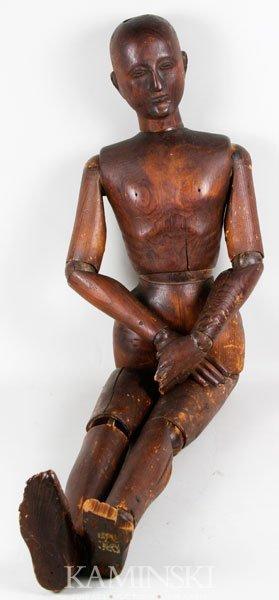 9016: 19th C. Artist's Mannequin