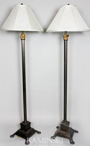 9023: Pair of English Style Floor Lamps