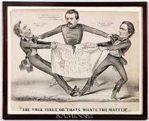 9039 1864 Currier  Ives Political Cartoon