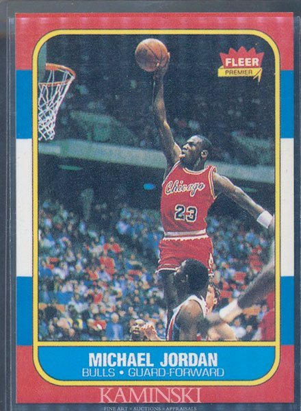 9052: 1986 Fleer Premier Michael Jordan Rookie Card