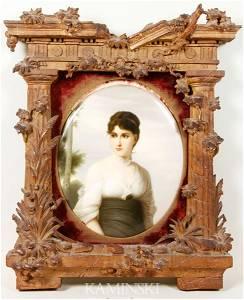 9124: KPM Plaque of a Woman