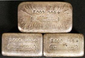 9463: 3 Engelhard Silver Ingots
