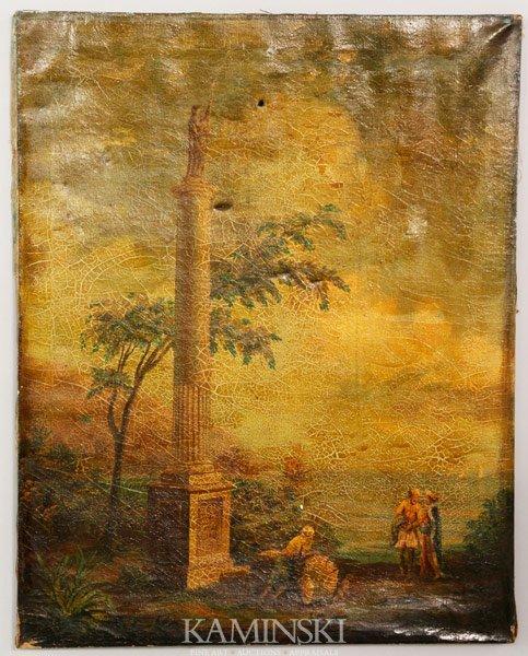 3003: Monument, Bay and Sailing Ships, O/C