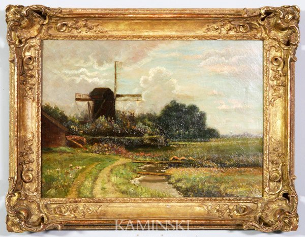 3019: Landscape with Windmill, O/C
