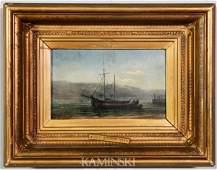 3078: Boat in Dock Scene, O/C