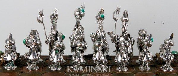 3156: Figural Art Metal Chess Set - 2