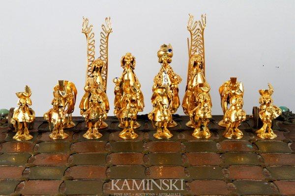 3156: Figural Art Metal Chess Set - 4