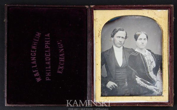 6006: Daguerreotype of Young Couple
