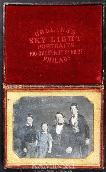 6007: Daguerreotype of Father and Children