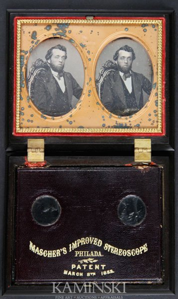 6014: Stereo Daguerreotype of Seated Gentleman
