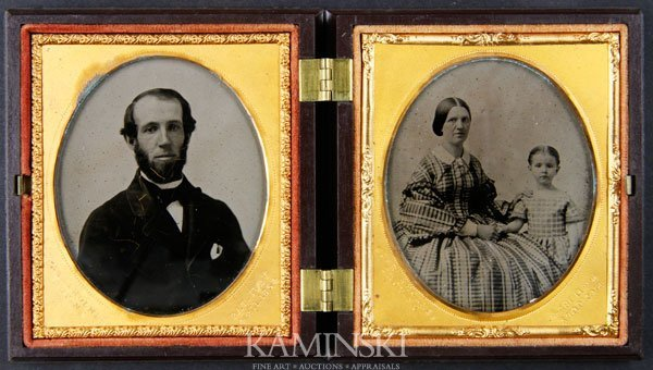 6016: 2 Ambrotypes of Families