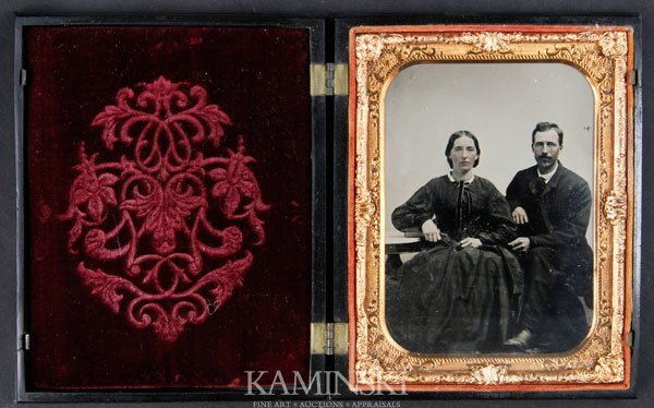 6020: Ambrotype of Young Couple in Rare Case