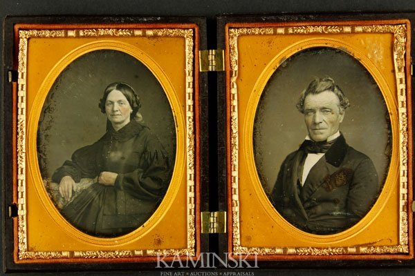 6024: 2 Daguerreotypes of Husband and Wife