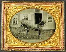 6147 Ambrotype of Young Man on Buggy