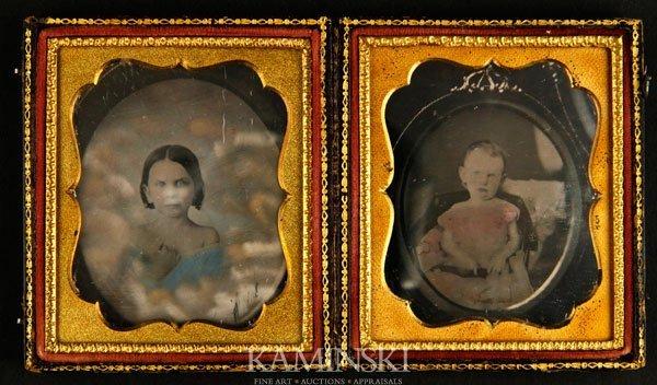 7001: Pair Daguerreotypes of Children