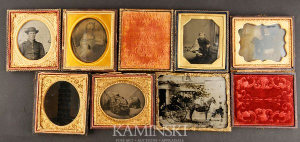 7003: 4 Ambrotypes and 2 Tintypes