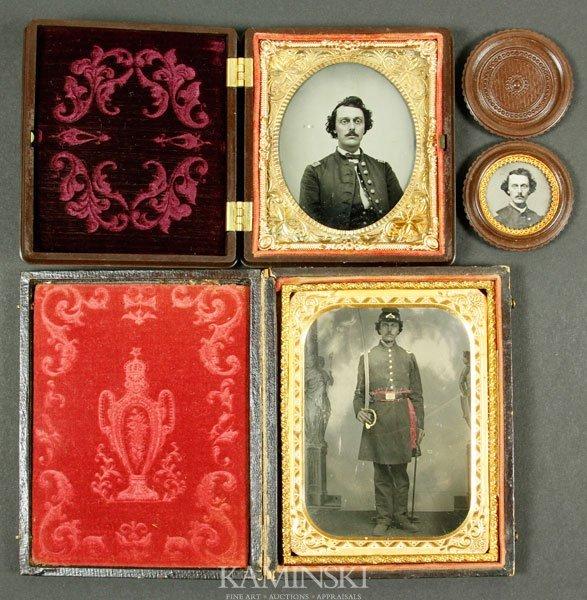 7005: 3 Civil War Tintypes