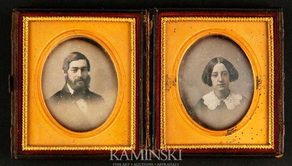 7014: Daguerreotype of Married Couple