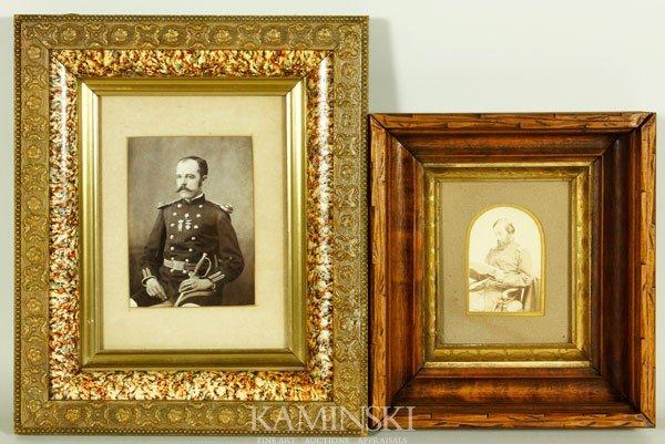 7015: 2 Civil War Officer Photographs