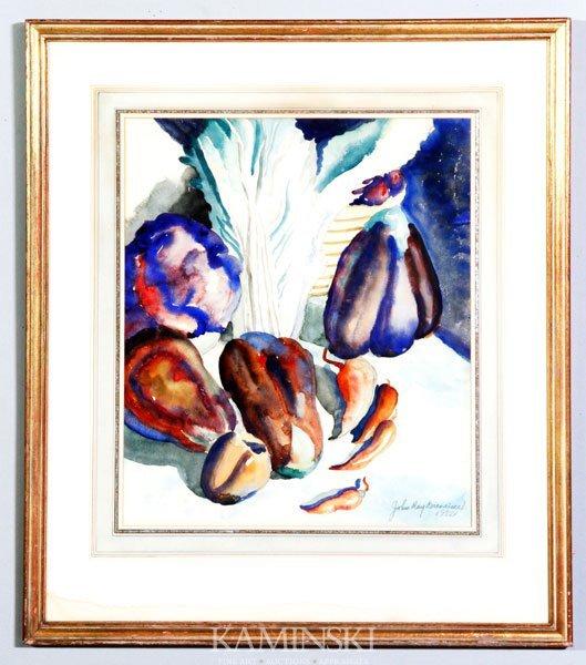 4005: Breneiser, Vegetable Still Life, W/C