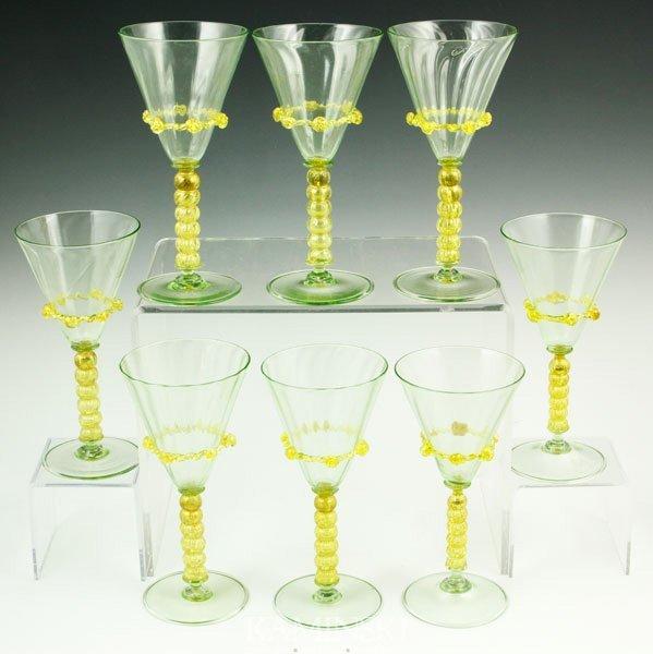4012: 8 Venetian Glasses