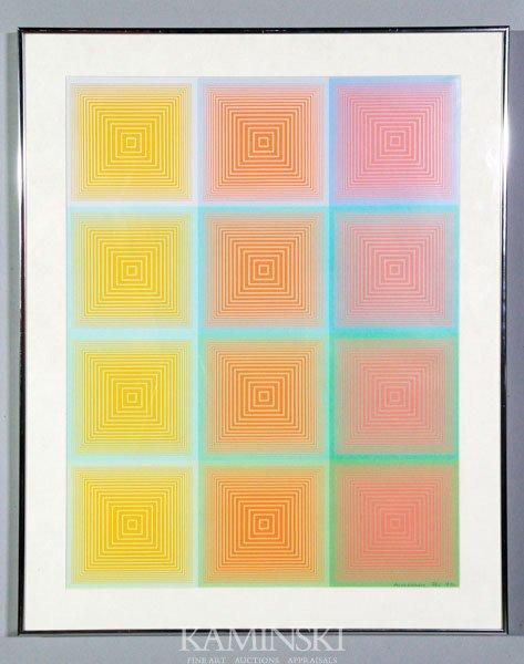 """4022: Anuszkiewicz, """"Inward Eye, Print"""""""