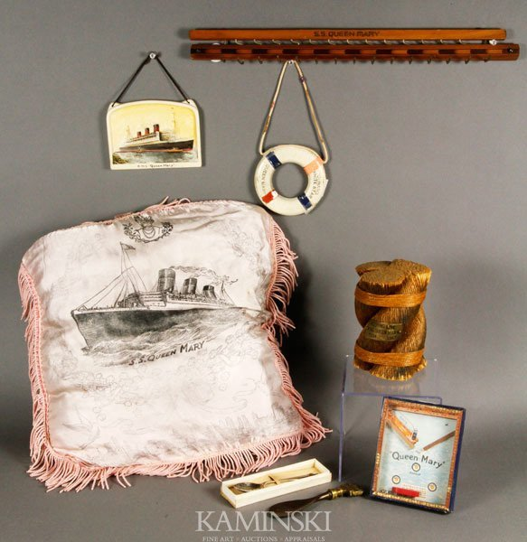 """5006: Collection of """"RMS Queen Mary"""" Items"""