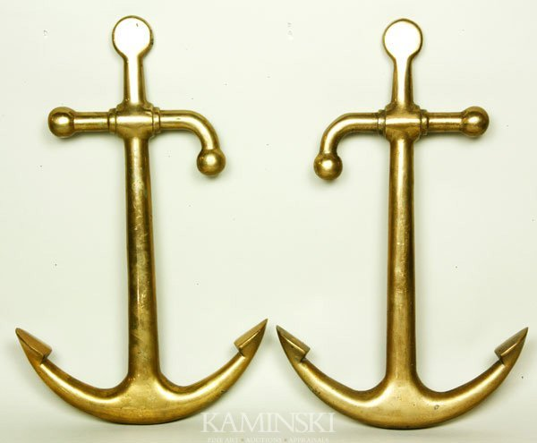 5013: Pair of Solid Brass Anchors