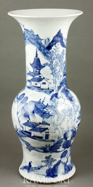 8003: 18th C. Chinese Blue and White Vase