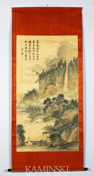 8006: Chinese Scroll Painting, Signed Dong Yang
