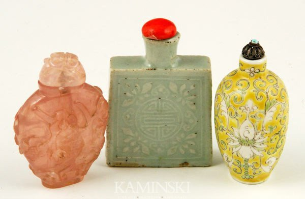 8012: 3 Chinese Snuff Bottles