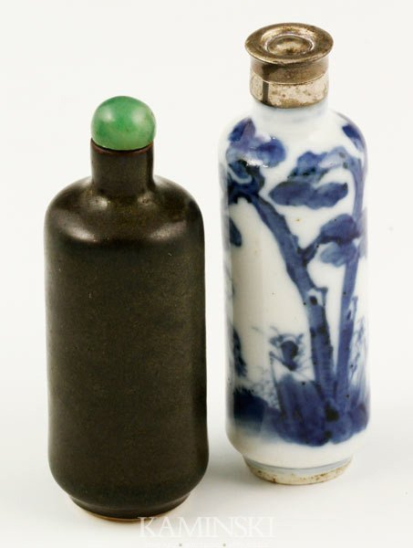 8014: 2 Chinese Snuff Bottles